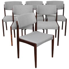 Set of Six Rosewood H.W. Klein for Bramin Dining Chairs