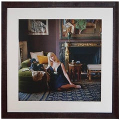 Nico with Dachshunds in Apartment of Henri Samuel-Photo by Mark Shaw, 1960
