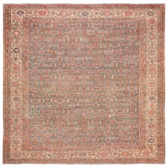 Square Antique Bakshaish Persian Rug. Size: 11 ft 4 in x 11 ft 8 in