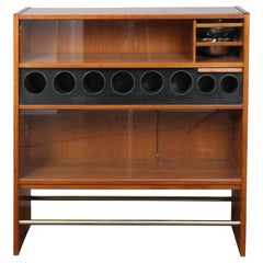 Danish Teak Wet Bar Designed by Poul Heltborg