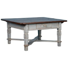 Antique Danish Coffee Table Painted Gray