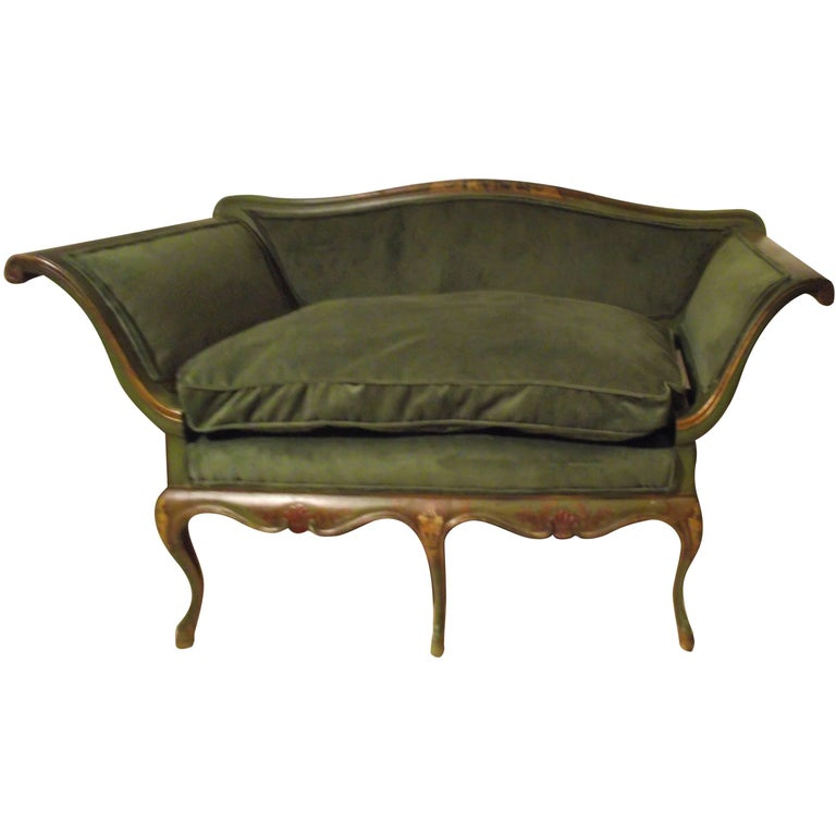 18th Century Venetian Hand Painted Sofa For