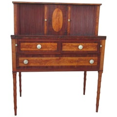 Federal Mahogany and Birch Inlaid Secretary/Desk