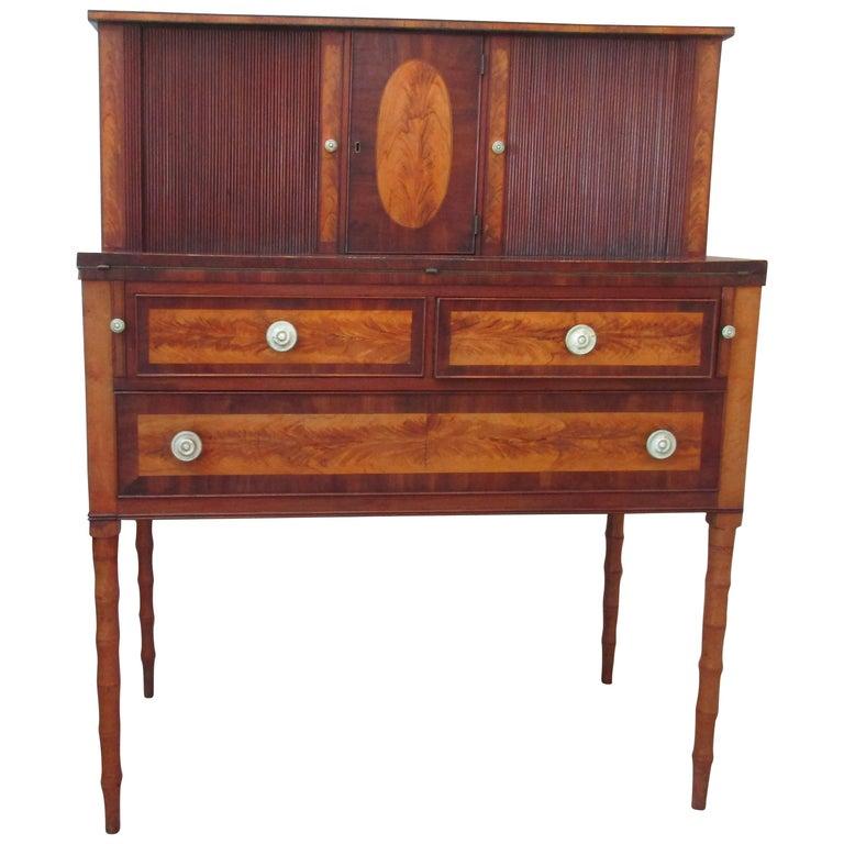 Federal Mahogany and Birch Inlaid Secretary/Desk