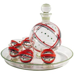 Czech Glass Decanter Set