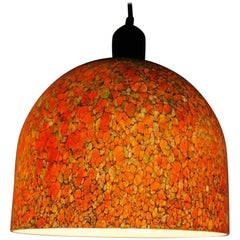 Murano Vintage Mottled Glass Dome Pendant Light
