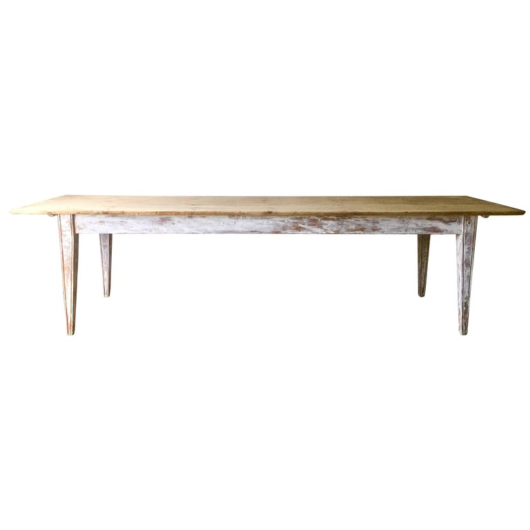 Large 19th Century Painted French Country Table