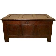 18th Century Panelled Oak Coffer