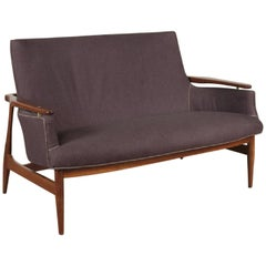 Mid century Modern Two-Seat Sofa in the Manner of Finn Juhl NV 53