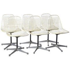 Set of Six Wire Chairs by Charles Eames for Herman Miller