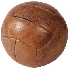 Midcentury Leather Vintage Medicine Ball by Lemnert Eichwald