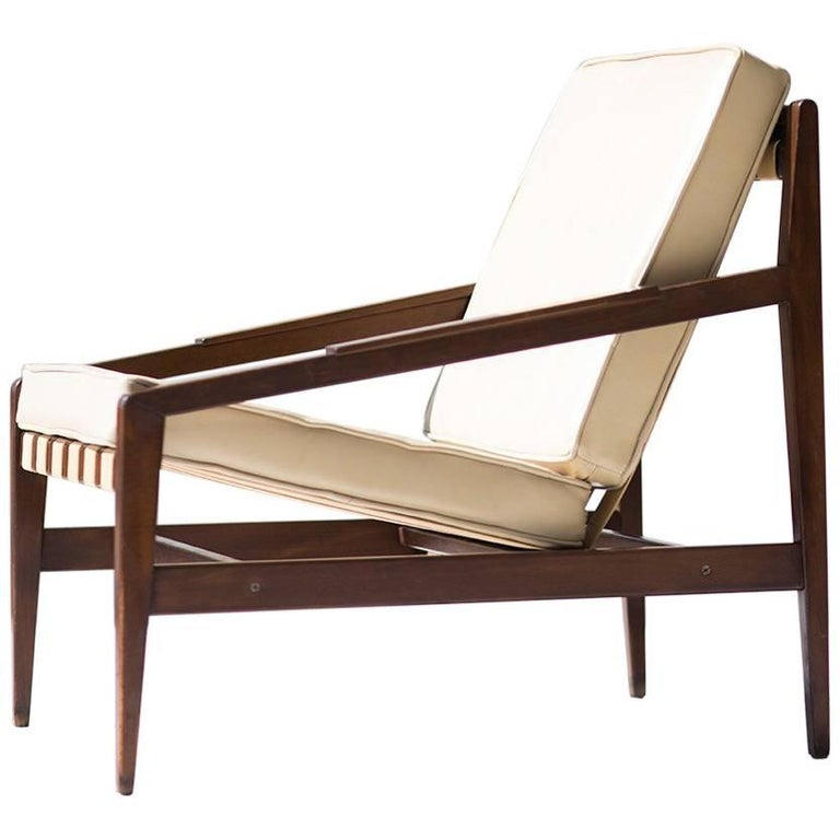 Rare Ib Kofod Larsen Lounge Chair for Selig Imports For Sale