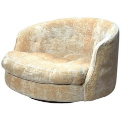 Large Round Swivel Lounge Chair by Milo Baughman for Thayer Coggin