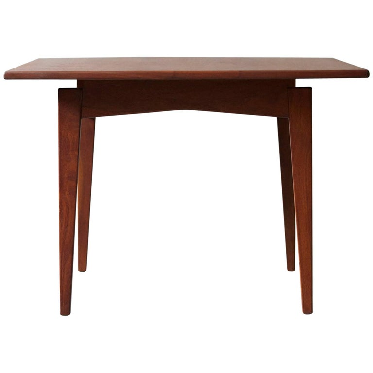 Jens Risom Floating Square Walnut Coffee Table For Sale