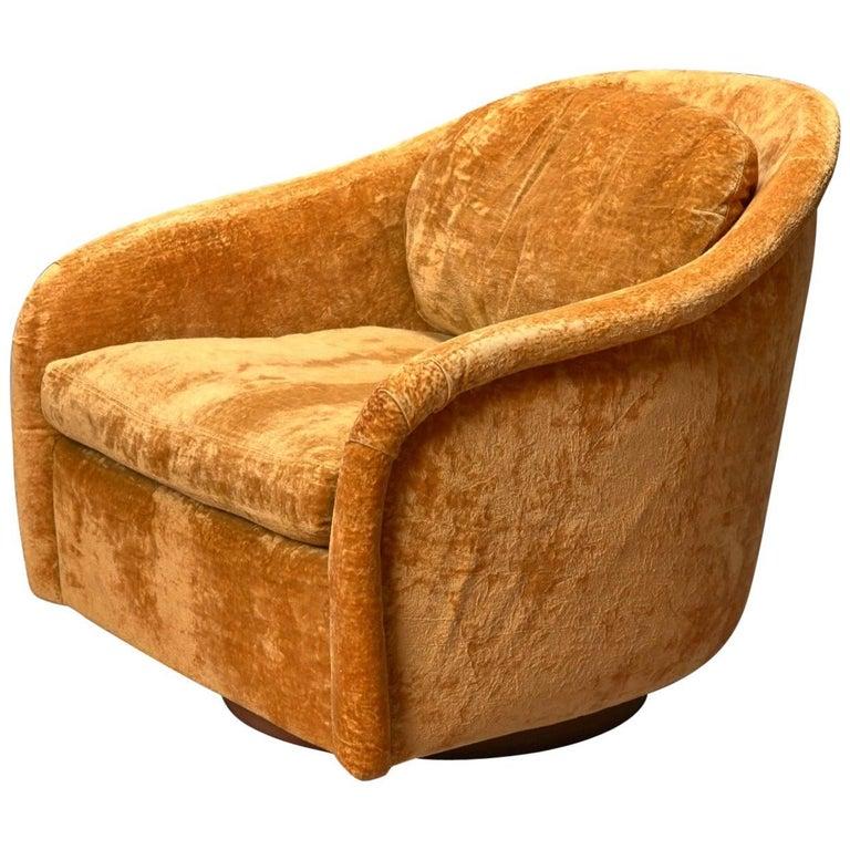 Swivel Tub Chair by Milo Baughman for Thayer Coggin