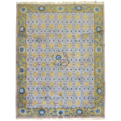 Purple Chinese Art Deco Room Size Rug