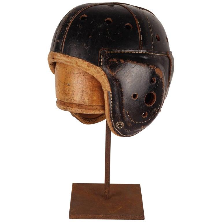 Vintage American Football Helmet from the 1930s