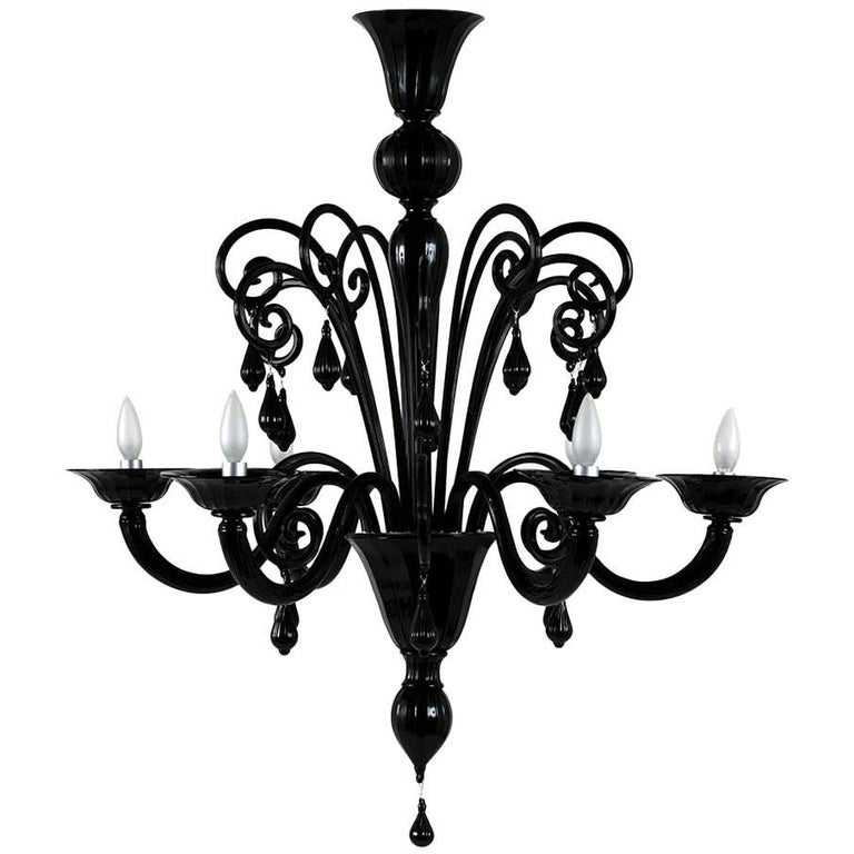 Italian Murano Glass Six-Arm Chandelier