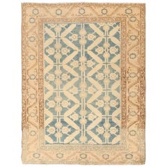Geometric Antique Tabriz Persian Rug