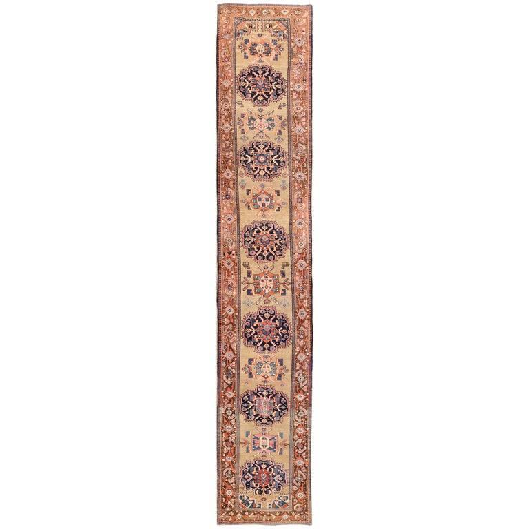 Antique Karabagh Caucasian Runner Rug