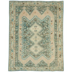 Midcentury Handmade Persian Tribal Accent Rug