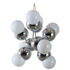 Mid-Century Modern Pendant Lamp with Eight Globes, 1960s