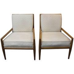 Pair of T. H. Robsjohn-Gibbings Lounge Chairs