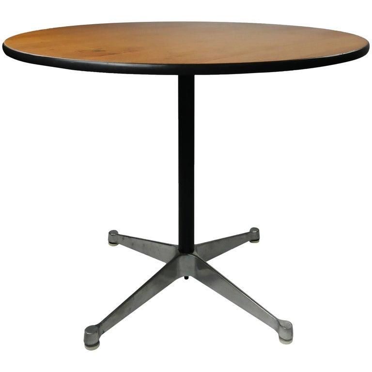 Eames Wood Aluminum Group Table for Herman Miller