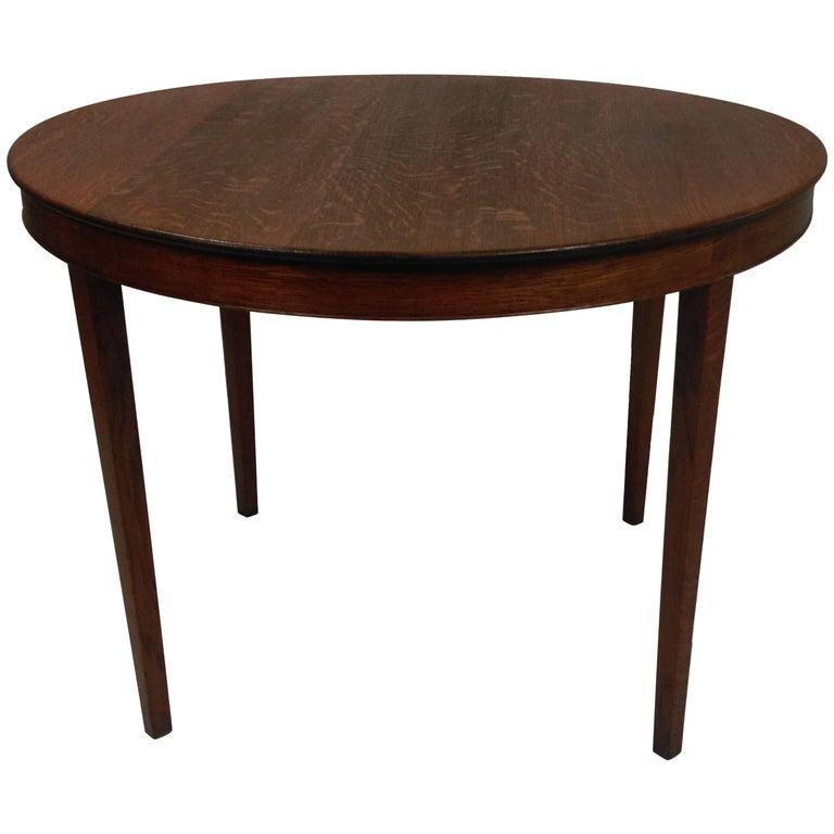 1940s Danish A.J. Iversen Coffee Table in Oak For Sale
