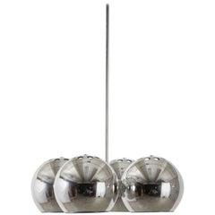 Mid-Century Modern Chrome Pendant Lamp by Lightolier, 1960s
