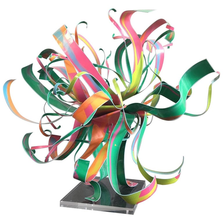 Dorothy Gillespie Starburst Metal Art Sculpture