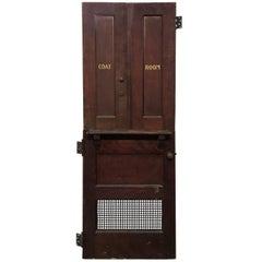 Antique Restaurant Coat Room Doors