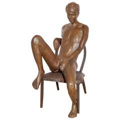 Male Bronze Nude by Artist Gerard Franc circa 1999