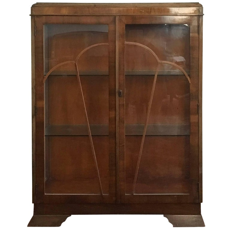 Art Deco Glass Cabinet, Vitrine