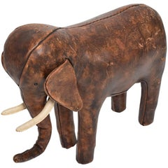Abercrombie Leather Elephant Mid-Century Modern