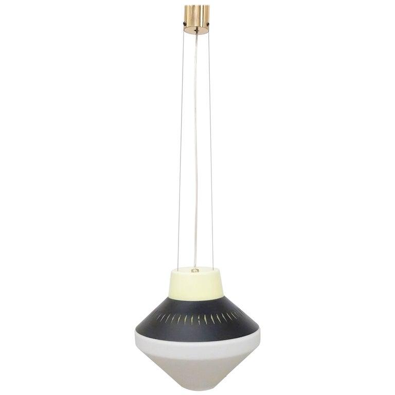 Geometric Suspension/Pendant Lamp by Stilnovo, 1950s