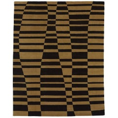 Angela Adams Mack, Brown Area Rug, 100% New Zealand Wool, Hand-Knotted, Modern