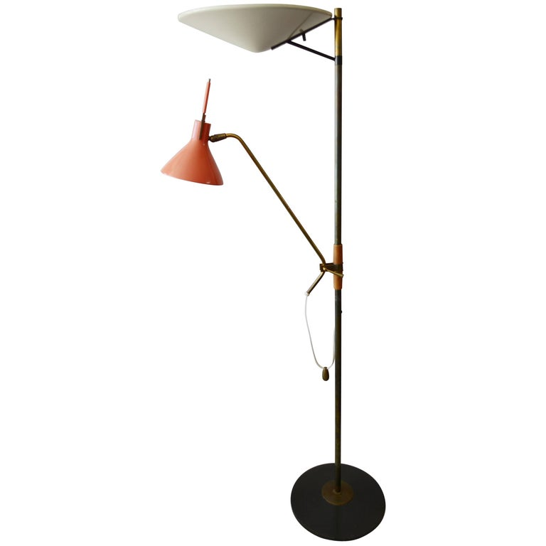 Gerald Thurston Floor Lamp for Lightolier For Sale at 1stdibs