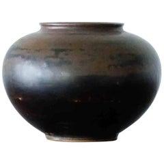 Arne Bang for Royal Copenhagen, Mid-Century Scandinavian Stoneware Vase, 1940s