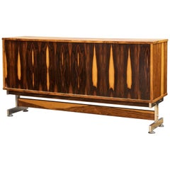 1960s Mid-Century Brazilian Rosewood Credenza Cabinet Lafer Zalszupin Rodrigues