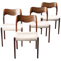 Set of Four Niels Otto Møller Dining Chairs