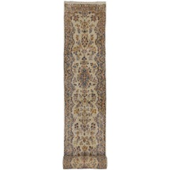 Vintage Persian Kerman Rug Runner with Traditional Style, Long Hallway Runner