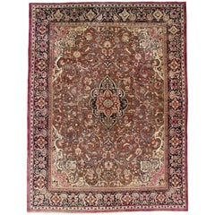 Antique Persian Mahal Herati Rug with Traditional Style