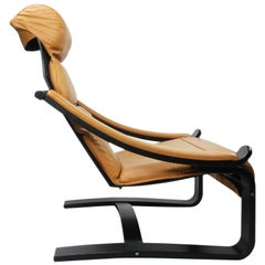 Gregory Cantilevered Leather Lounge Chair by Scanform