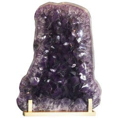 Larger Amethyst Geode Cluster Sculpture
