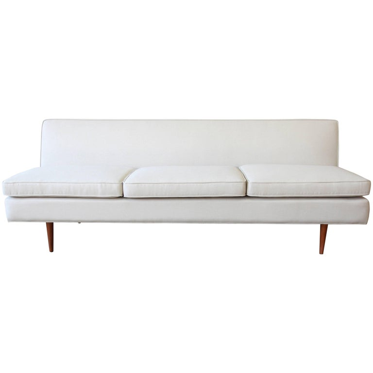 Paul McCobb Mid-Century Modern Planner Group Armless Sofa, Newly Restored