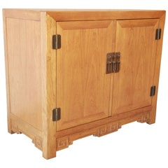 Michael Taylor for Baker Furniture Elm Wood Chinoiserie Server or Credenza