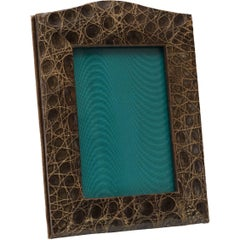 Vintage Brown Alligator Picture Frame