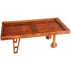 Coffee Table or Corner Board in Hardwood Contemporary Brazilian Design, Handmade