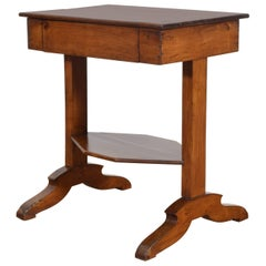 French Restauration Period Cherrywood One-Drawer Side Table, circa 1810-1820
